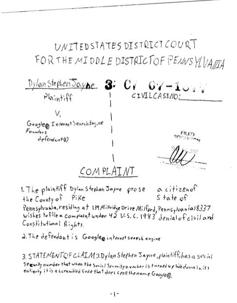 handwritten petition